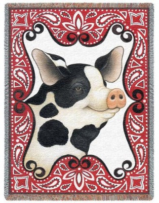 Bandana Pig (Tapestry Throw)