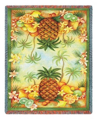 Pineapples & Fruit (Tapestry Throw)