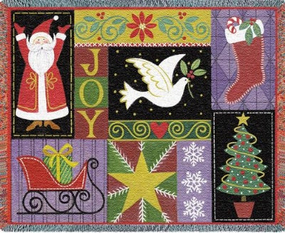 Christmas Icons (Tapestry Throw)