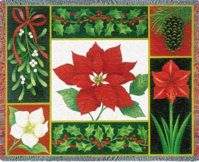 Christmas Flora (Tapestry Throw)