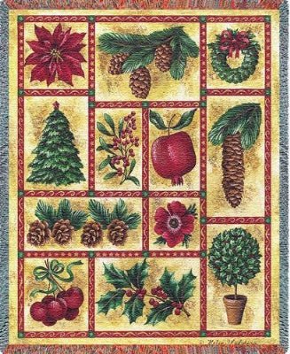 Images Of Christmas (Tapestry Throw)