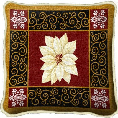 White Poinsettia (Pillow)