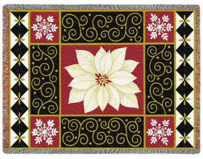 White Poinsettia (Tapestry Throw)