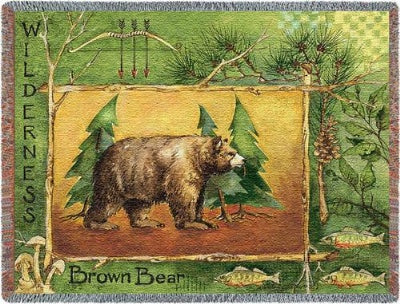 Brown Bear (Tapestry Throw)