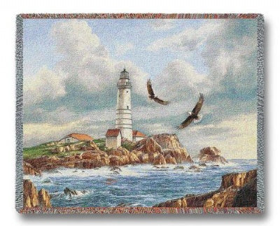Boston Lighthouse (Tapestry Throw)
