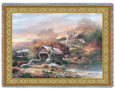 Old Mill Creek (Tapestry Throw)