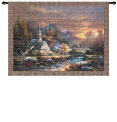 Morning Of Hope  (Wall Hanging with Wood Rod)
