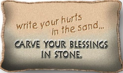 Write Your Hurts In Sand (Pillow)