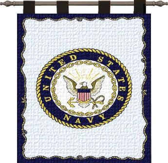 Navy Wall Hanging-Woodrod (Wall Hanging)