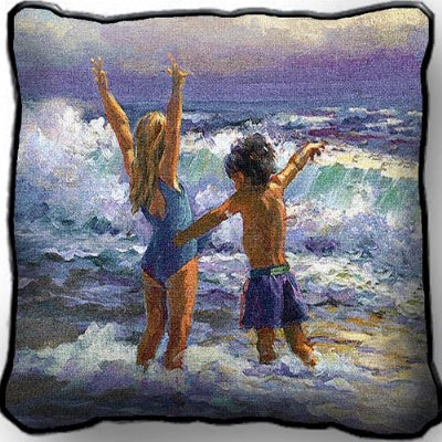 Surf Dancers Pillow (Pillow)