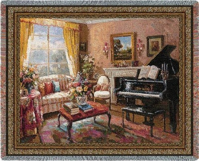 Music Room Tapestry (Tapestry Throw)
