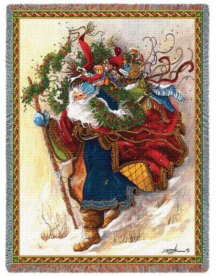 Windswept Santa (Tapestry Throw)
