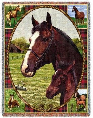 Thoroughbred Tapestry (Tapestry Throw)