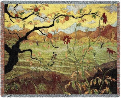 Apple Tree/W Red Fruit Tap (Tapestry Throw)