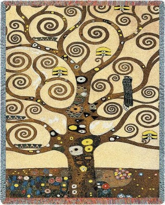 Klimt Tree Of Life Tap (Tapestry Throw)