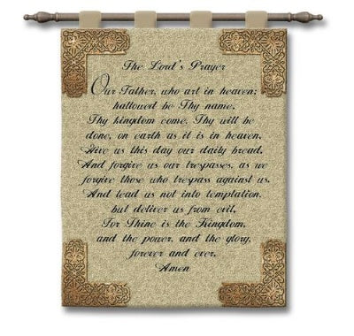 Lords Prayer (The)-Wood Rod (Wall Hanging with Wood Rod)