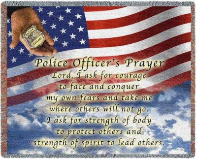 Police Officers Prayer (Tapestry Throw)