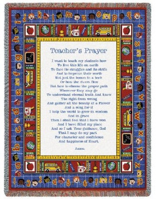 Teachers Prayer (Tapestry Throw)