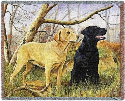 Yellow & Black Lab Tapestry (Tapestry Throw)