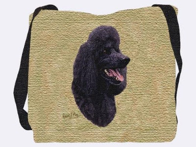 Black Poodle  (Tote Bag)