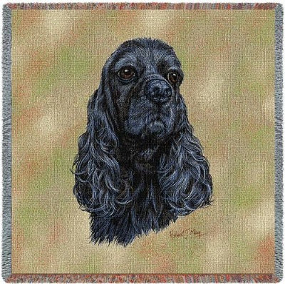 Black Cocker (Tapestry Throw)