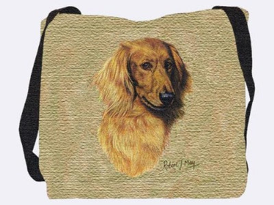 Brown Longhaired Dachs Bag (Tote Bag)
