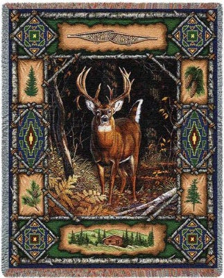 Deer Lodge Tapestry (Tapestry Throw)