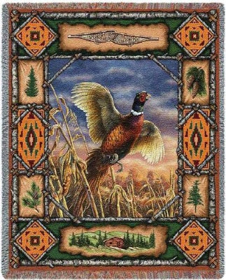 Pheasant Lodge Tapestry (Tapestry Throw)