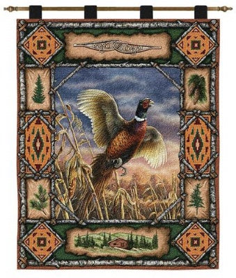 Pheasant Lodge  (Wall Hanging with Wood Rod)