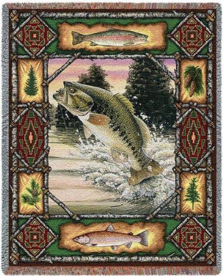 Fish Lodge Tapestry (Tapestry Throw)