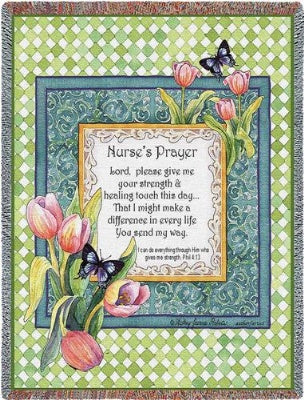 Nurse's Prayer (Tapestry Throw)