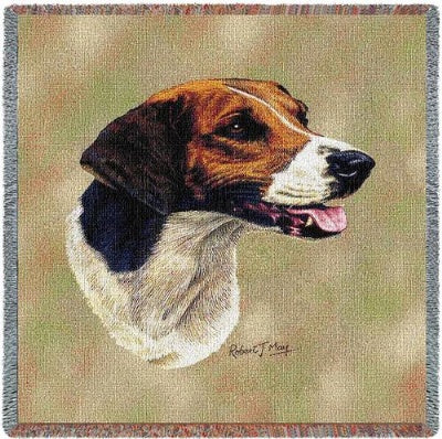 English Foxhound (Tapestry Throw)