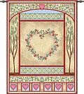 Love Quilt Pastel  (Wall Hanging with Wood Rod)