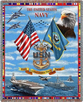Navy Chiefs (Tapestry Throw)