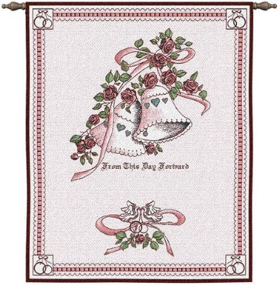 Matrimony Pink  (Wall Hanging with Wood Rod)