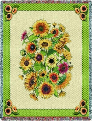 Sunflowers (Tapestry Throw)