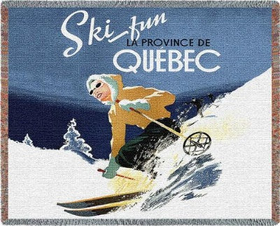 Ski Quebec (Tapestry Throw)
