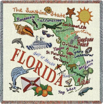 Florida State Lapsquare (Tapestry Throw)