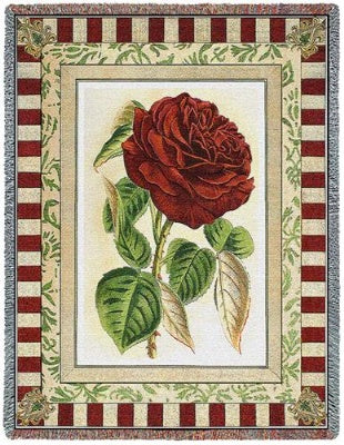 Red Rose I (Tapestry Throw)