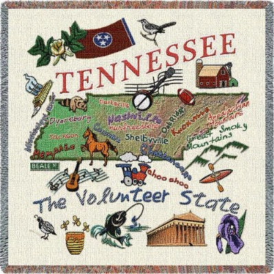 Tennessee State Lapsquare (Tapestry Throw)