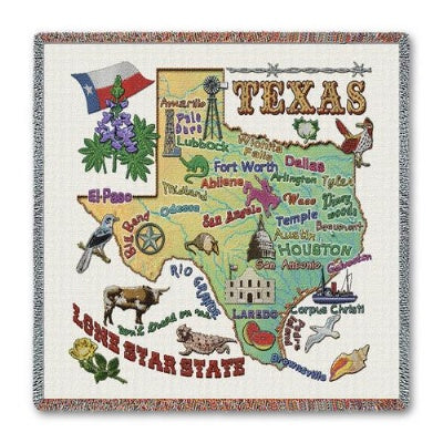 Texas State Lapsquare (Tapestry Throw)