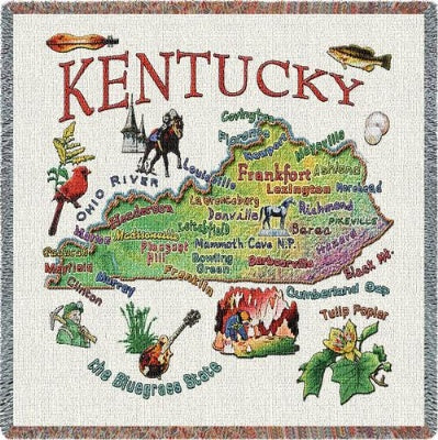 Kentucky State Lapsquare (Tapestry Throw)