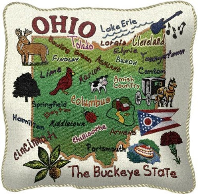 State Of Ohio Pillow (Pillow)