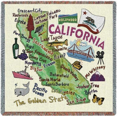 California State Lapsquare (Tapestry Throw)
