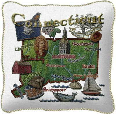 Connecticut State Pillow (Pillow)