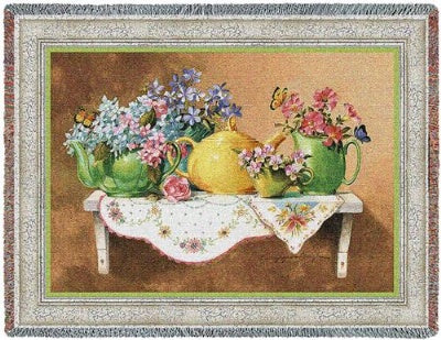 Cottage Spring (Tapestry Throw)