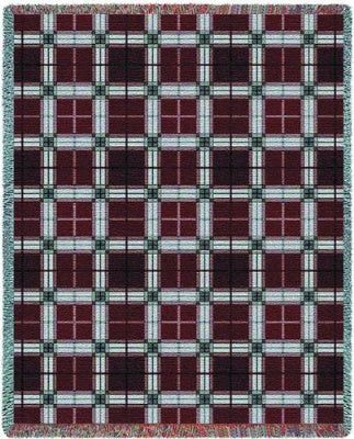 Brickcraft Plaid (Tapestry Throw)