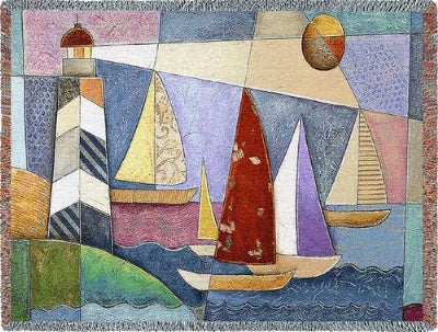 Bay Regatta Tapestry (Tapestry Throw)