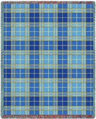 Blue Bell Plaid (Tapestry Throw)