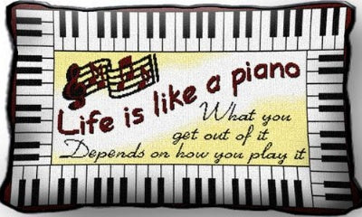 Life Is Like A Piano (Pillow)
